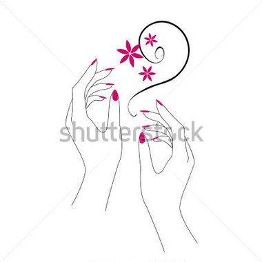 Nails clipart lady hand. Holding a nail polish