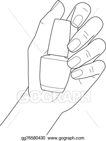 Vector art female with. Nails clipart manicured hand