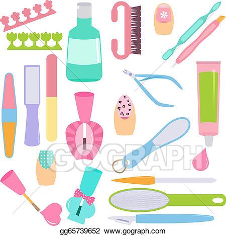 Clip art vector tools. Manicure clipart manicure tool