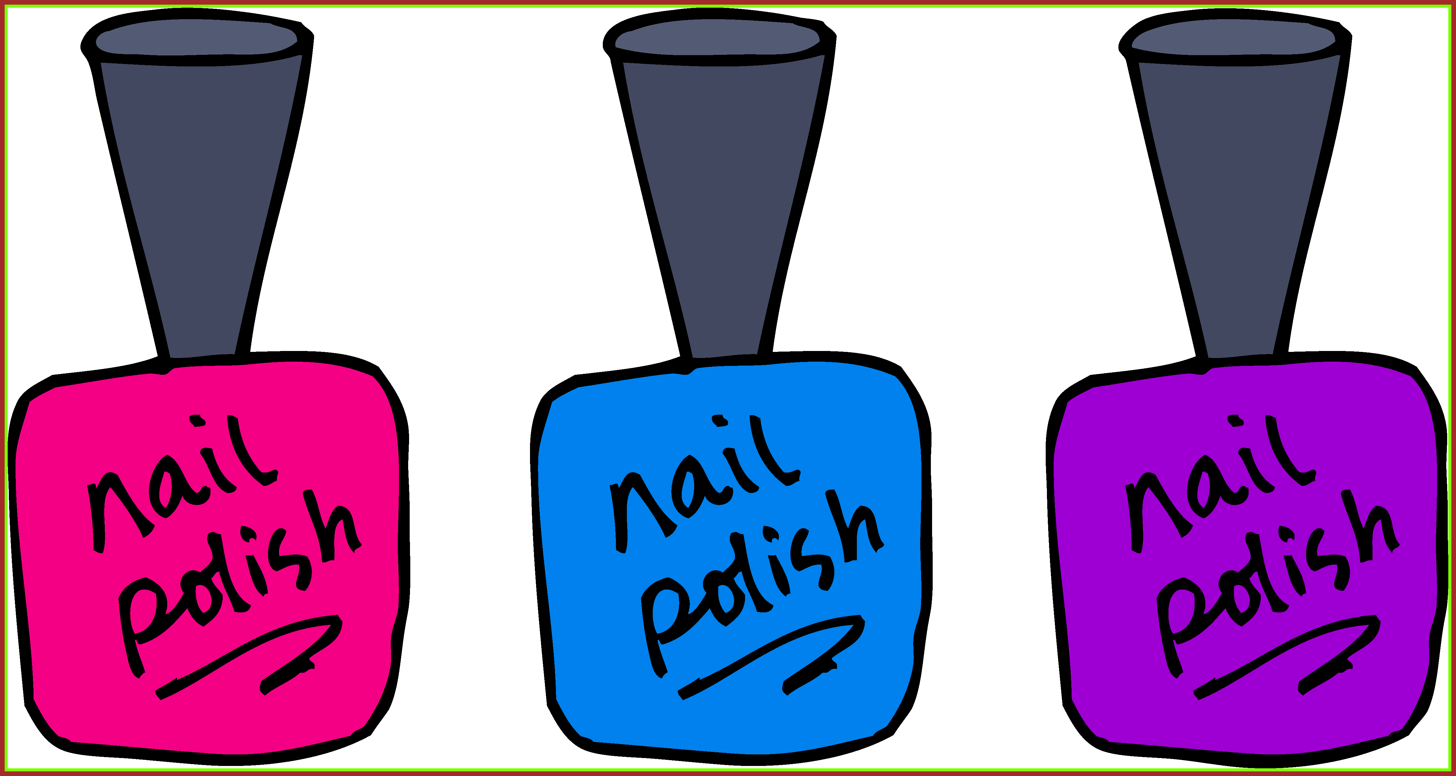 Nails clipart french manicure. Astonishing clip art nail