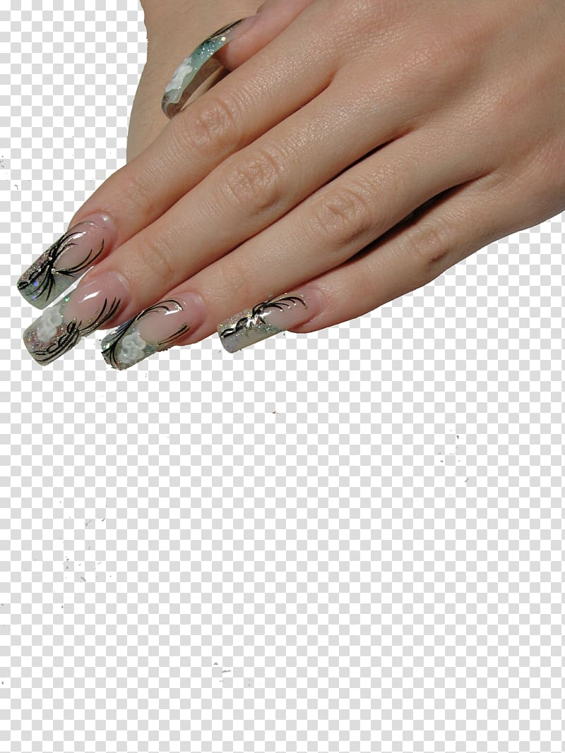 Artificial manicure acrylic paint. Nails clipart fake nail