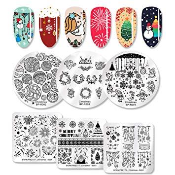 Manicure clipart pretty nail. Born art stamping plate