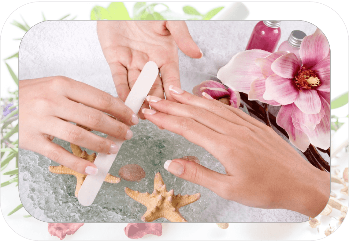 Nails clipart french manicure. Spa nail salon