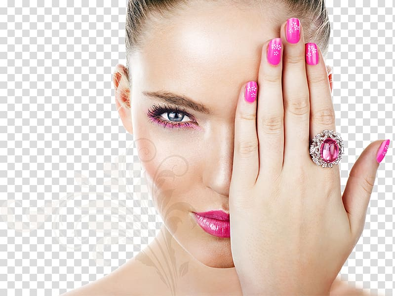 Covering left eye gel. Nails clipart woman nail