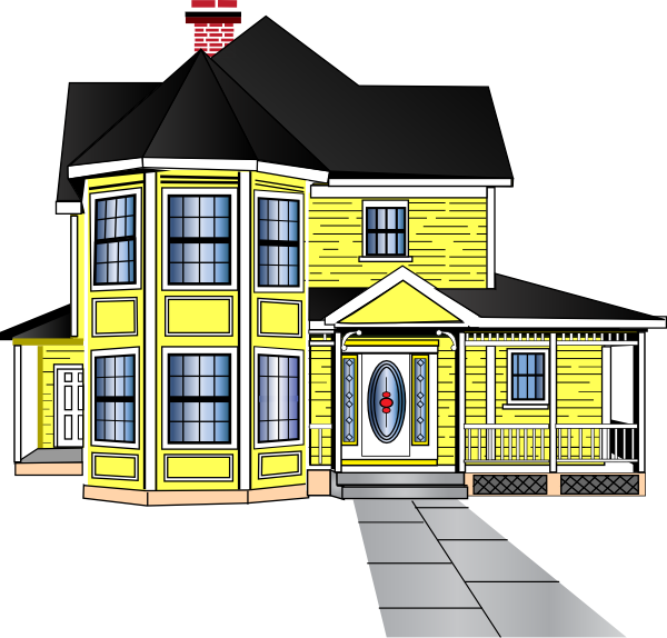 Mansion pencil and in. Home clipart residence