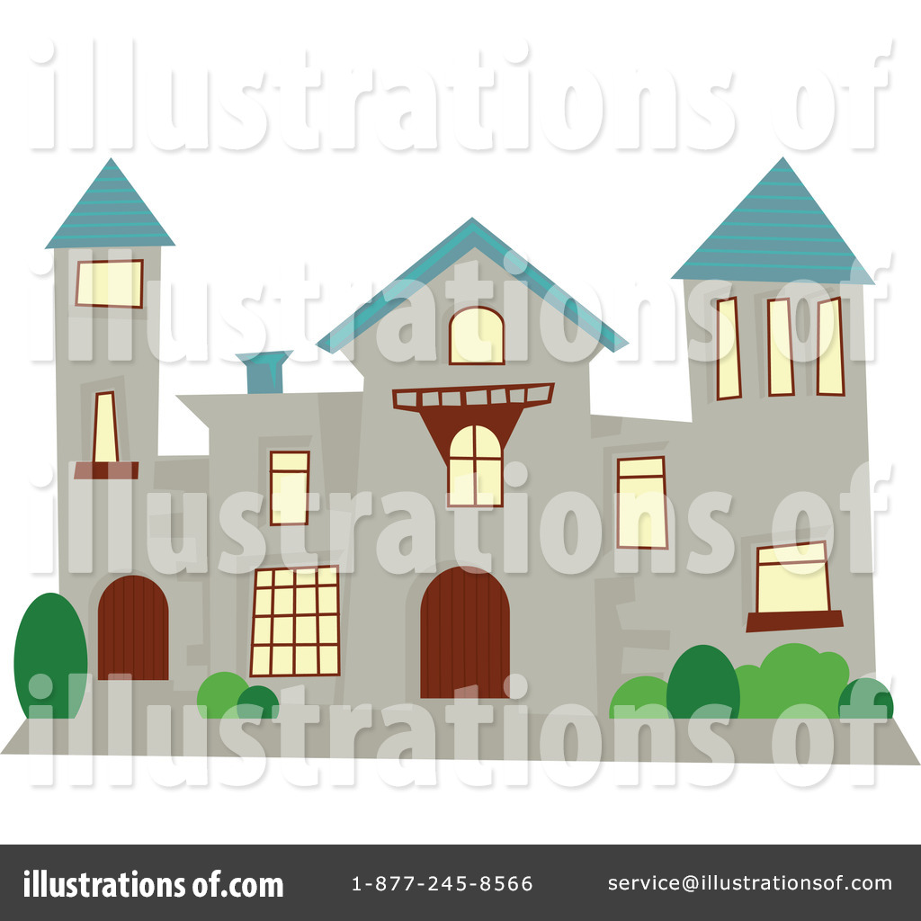 Illustration by prawny royaltyfree. Mansion clipart
