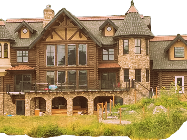 Transparent cartoon . Mansion clipart brown house