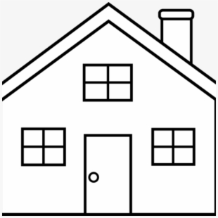 Large house black and. Mansion clipart drawing