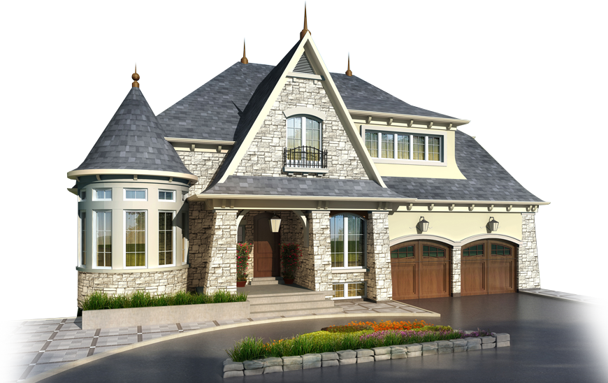 House transparent png. From the outside image