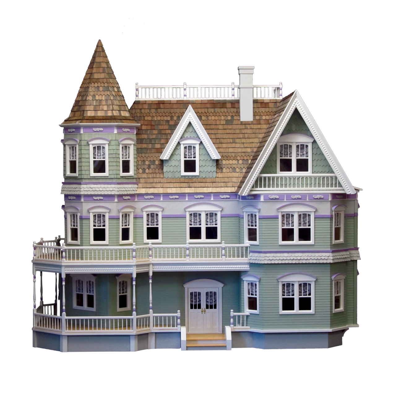 Victorian house png. Queen anne dollhouse kit