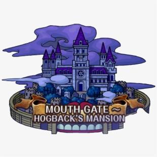 Mansion clipart house gate. Castle gates one piece