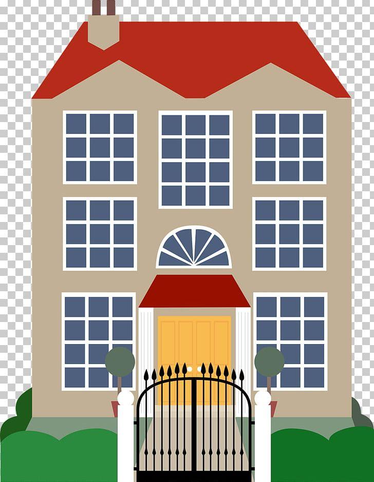 Png building download elevation. Mansion clipart house gate