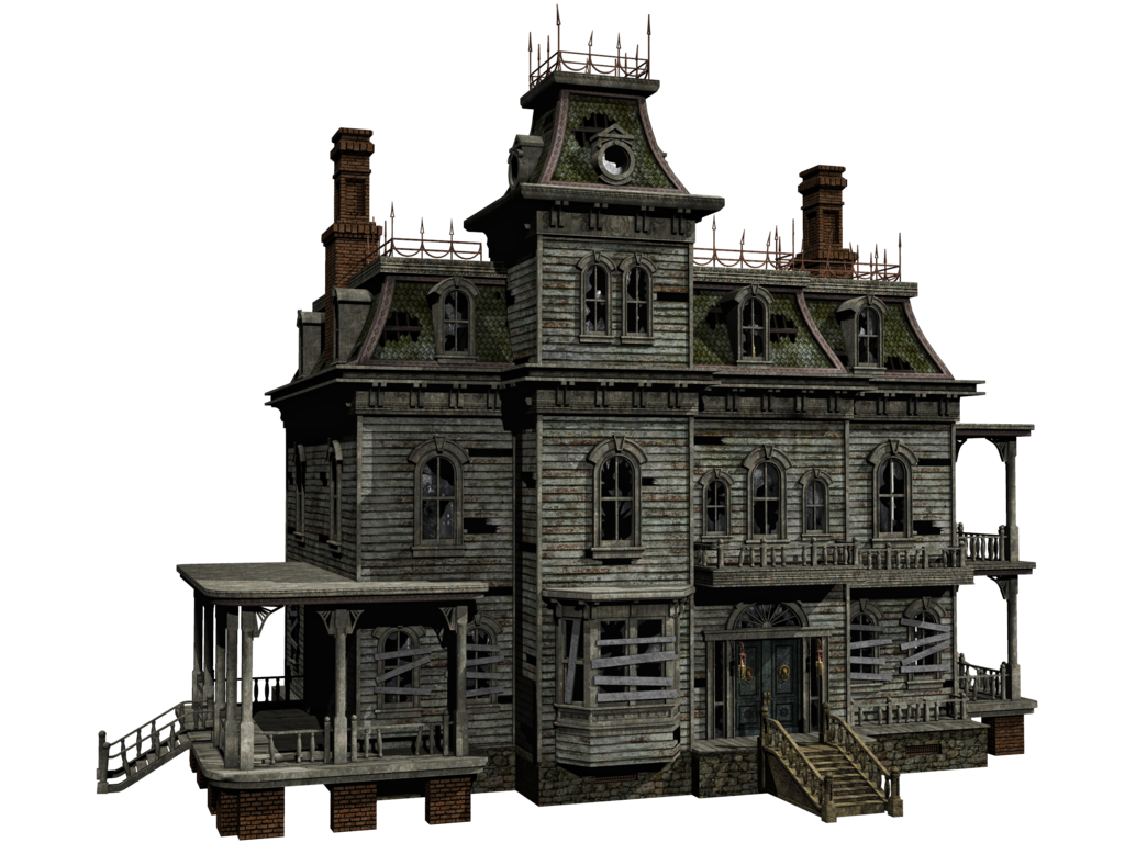 Abandoned house png. Haunted mansion transparent images