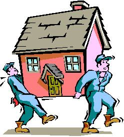 Free opening of new. Moving clipart home