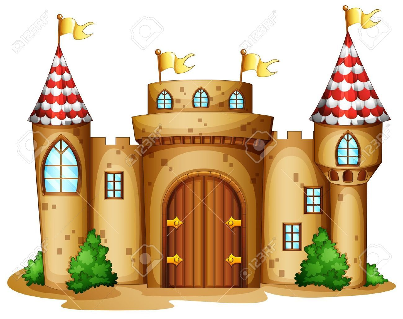 Palace clipart background. Stock vector art castle