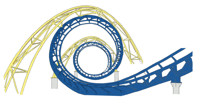 Free roller coaster tracks. Track clipart vector