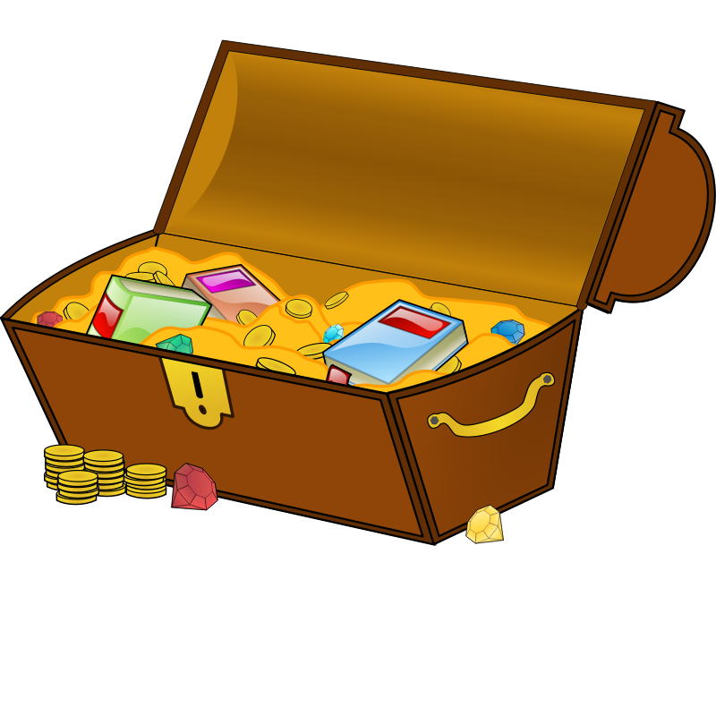 Treasure clipart pile gem. Chest png images free