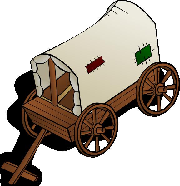 Wagon clipart caravan. Clip art at clker