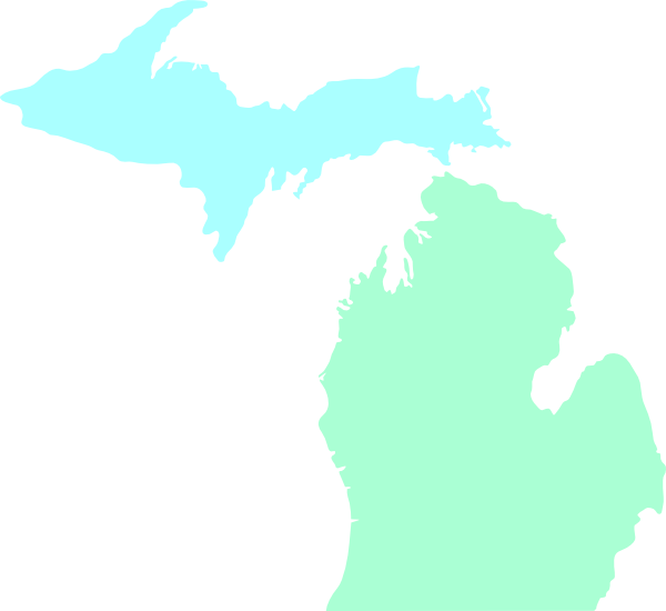 Michigan clipart lake. Map clean teal clip