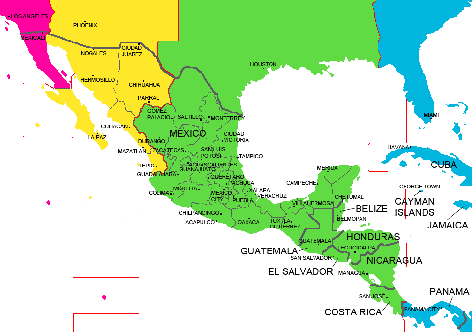 Mexico clipart map. The faces of immigration
