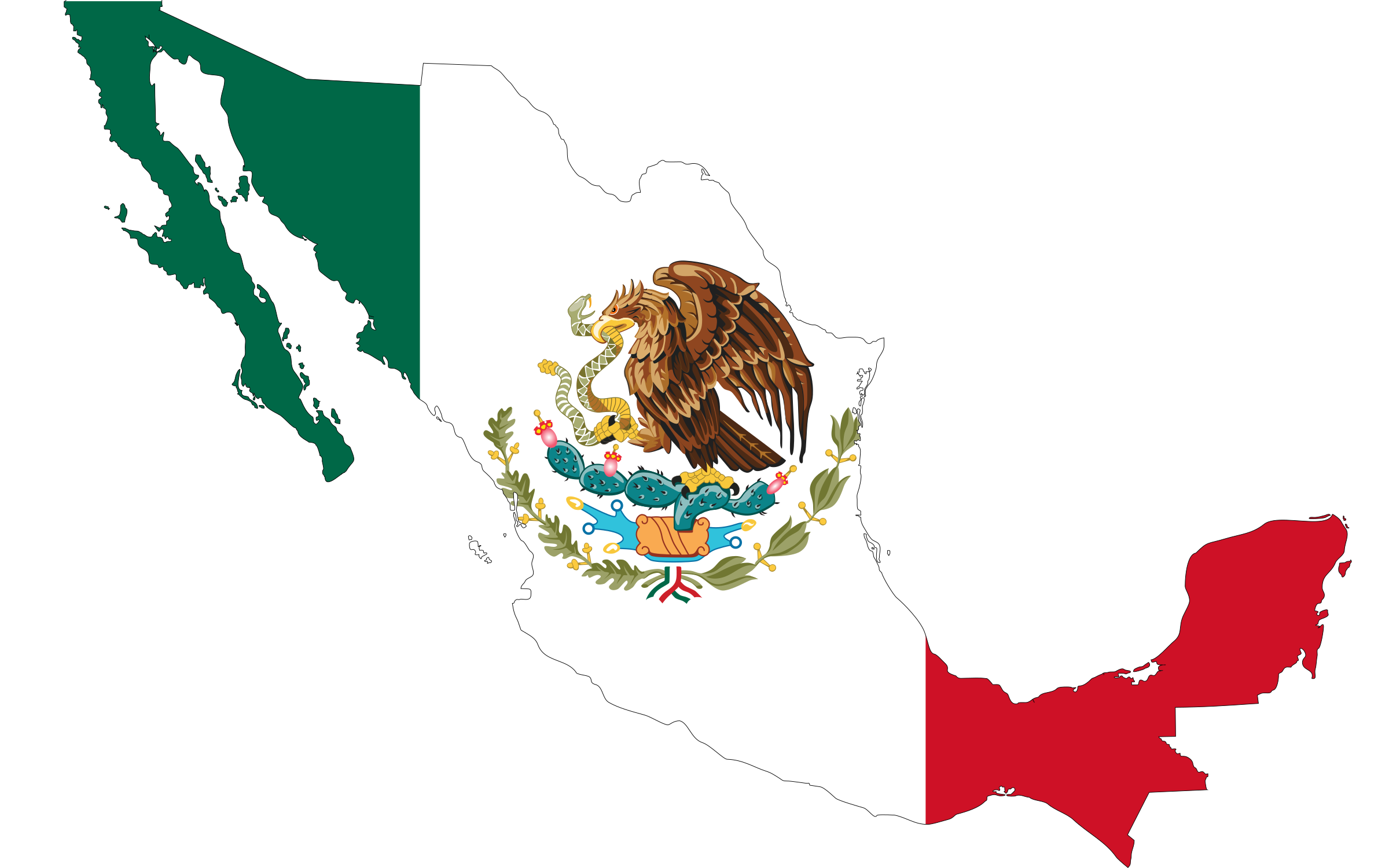 Flag big image png. Mexico clipart map