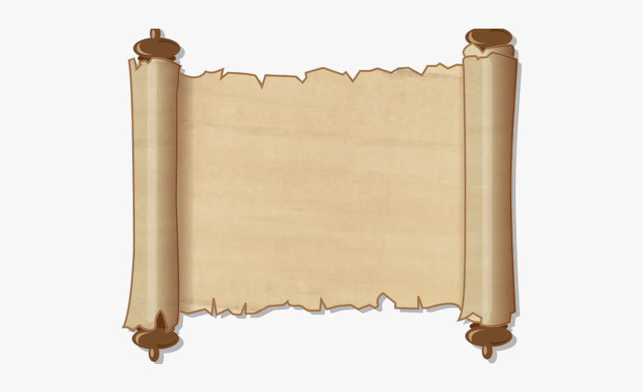 Scroll clipart background. Map transparent