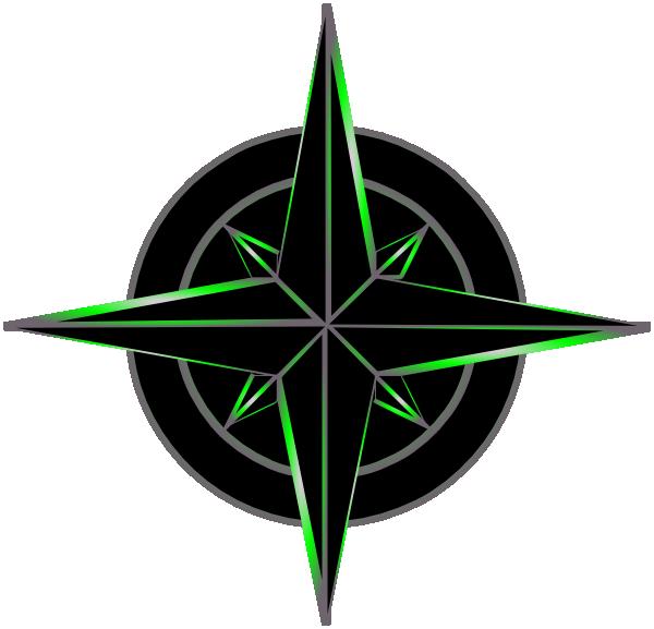 Symbol black and green. Maps clipart navigation