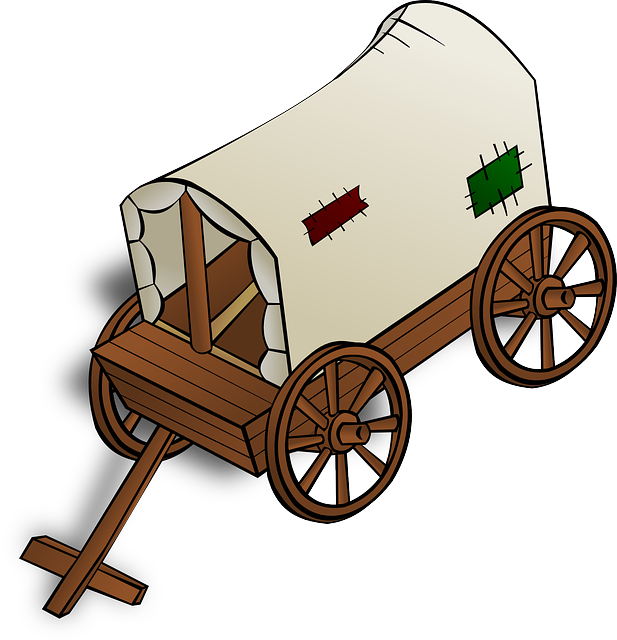 This old wagon clip. Trail clipart trail sign