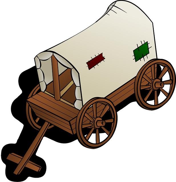 Wagon clipart conestoga wagon. This old clip art