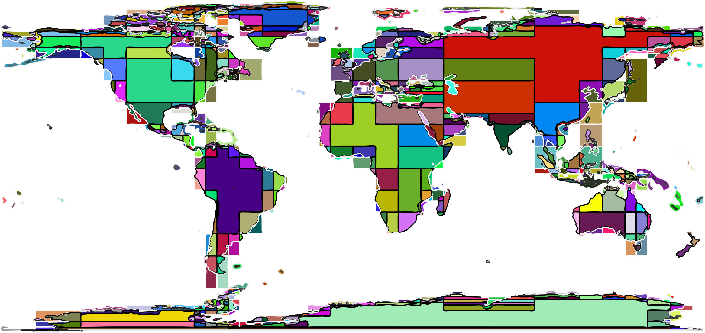 Map clipart world map. Abstract blocks big image