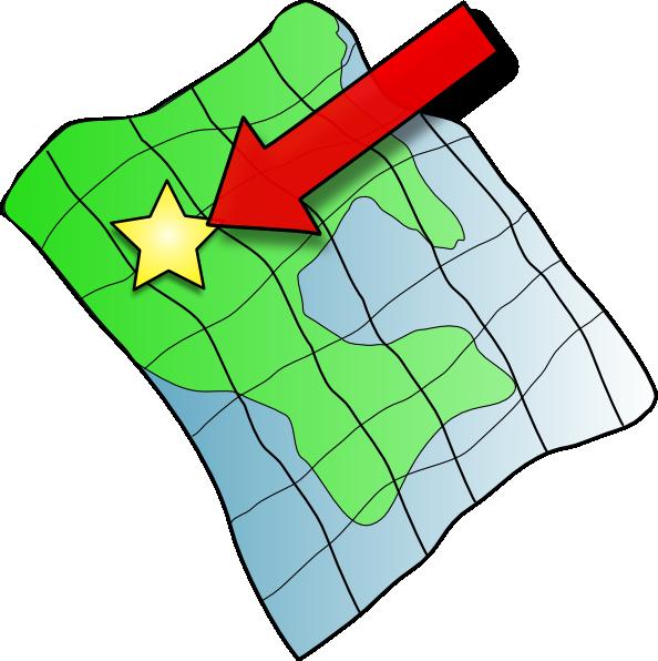 Maps clipart. Ruffled map clip art