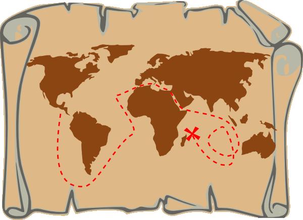 Treasure map clip art. Maps clipart