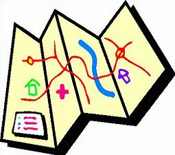 Maps clipart. Free road map