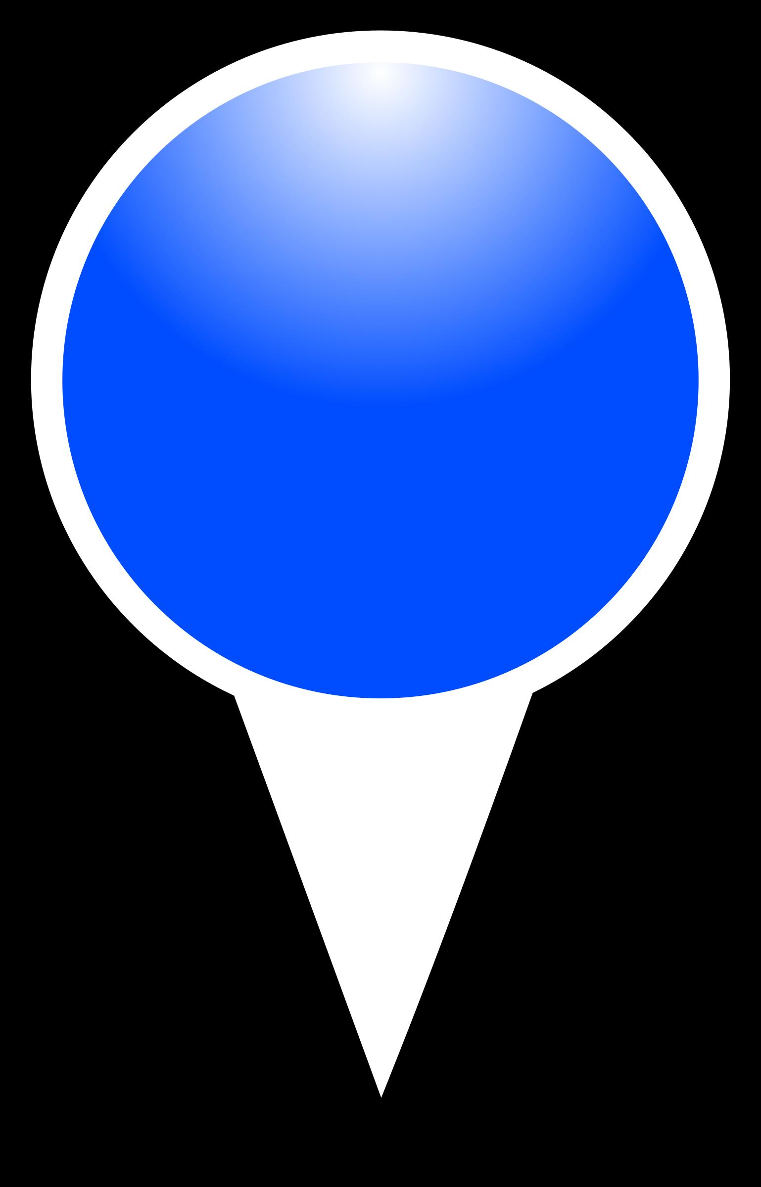 Squat marker big image. Maps clipart blue