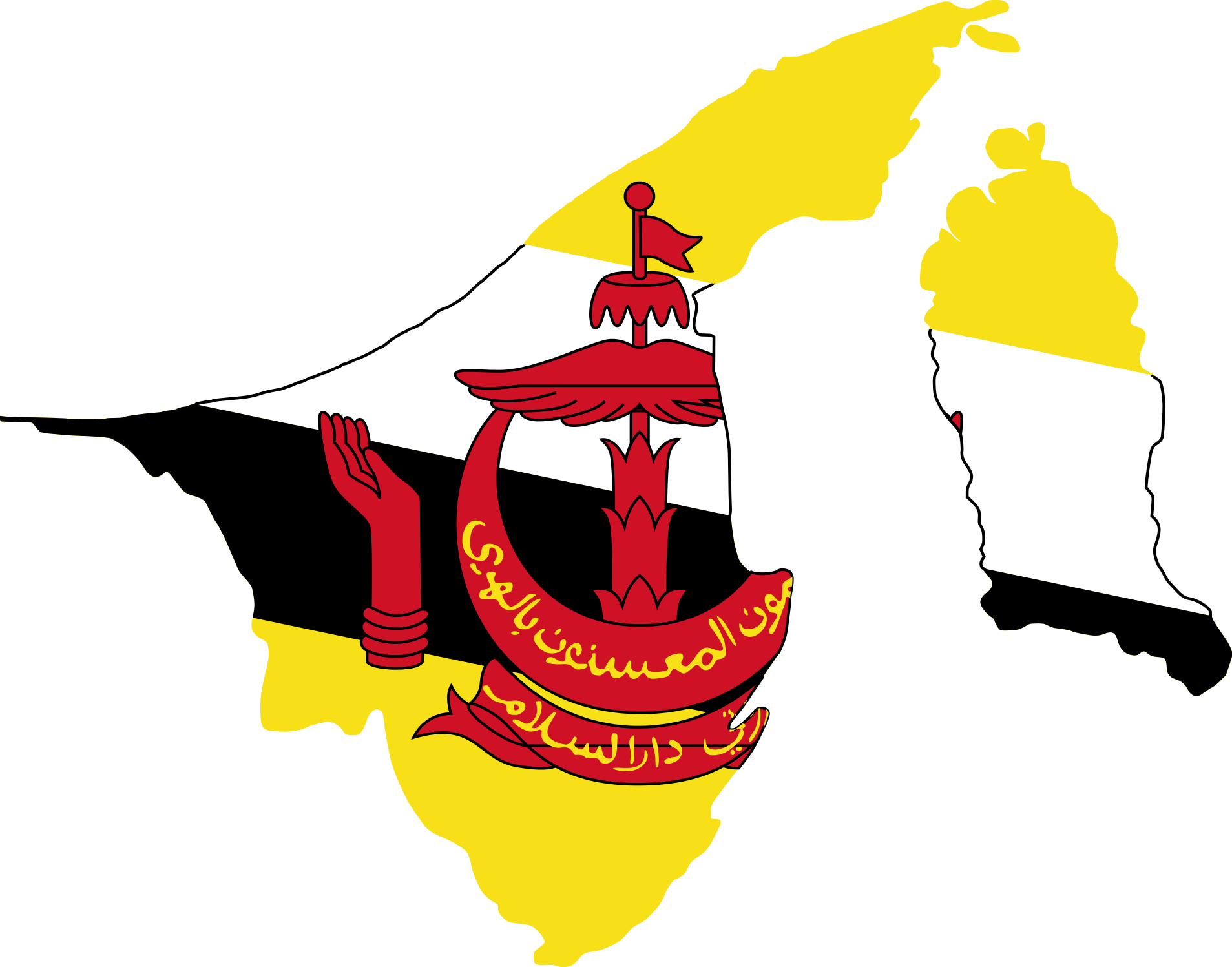 Maps clipart map work. File flag of brunei