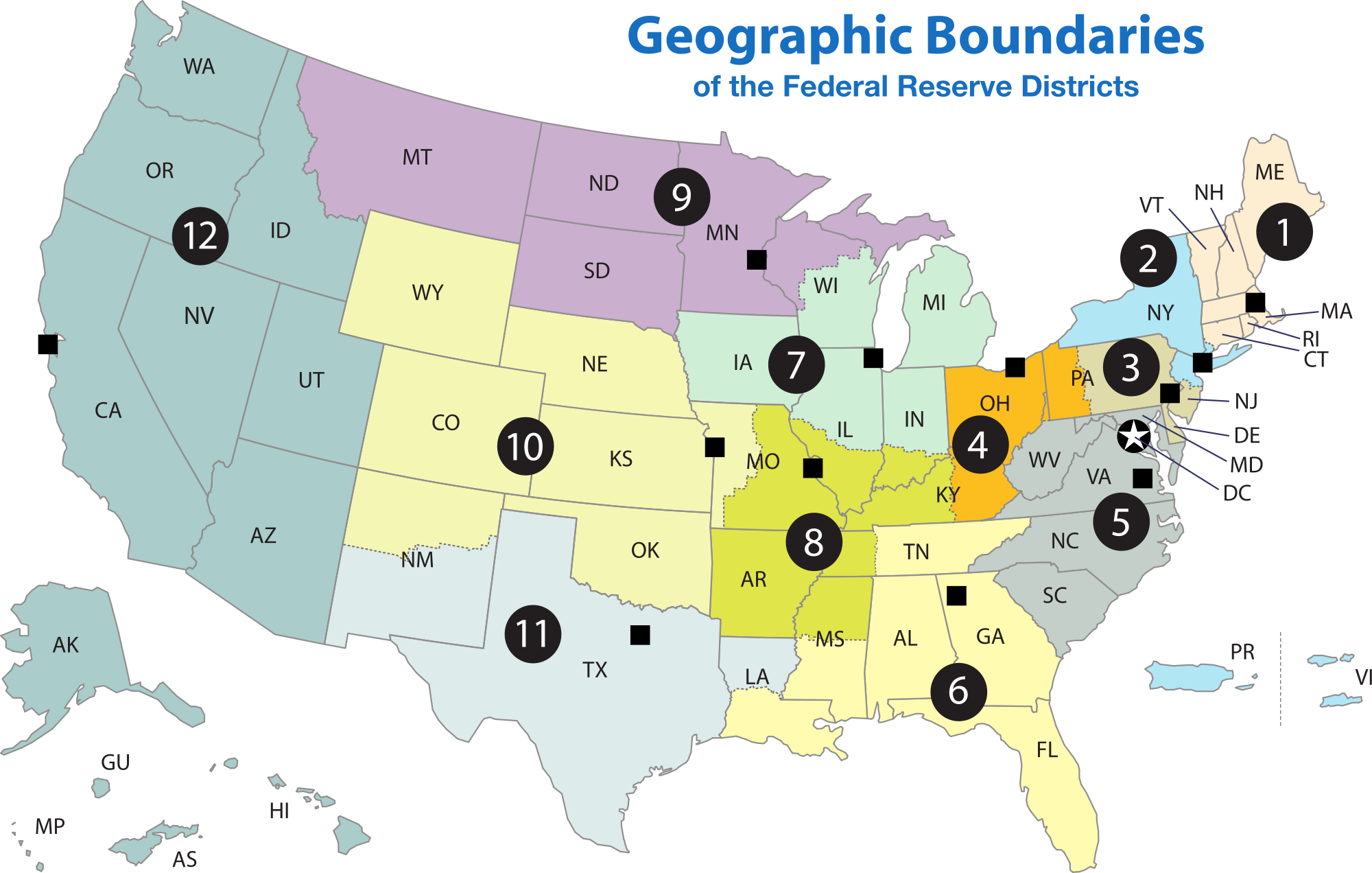 List of regions the. United states clipart region us