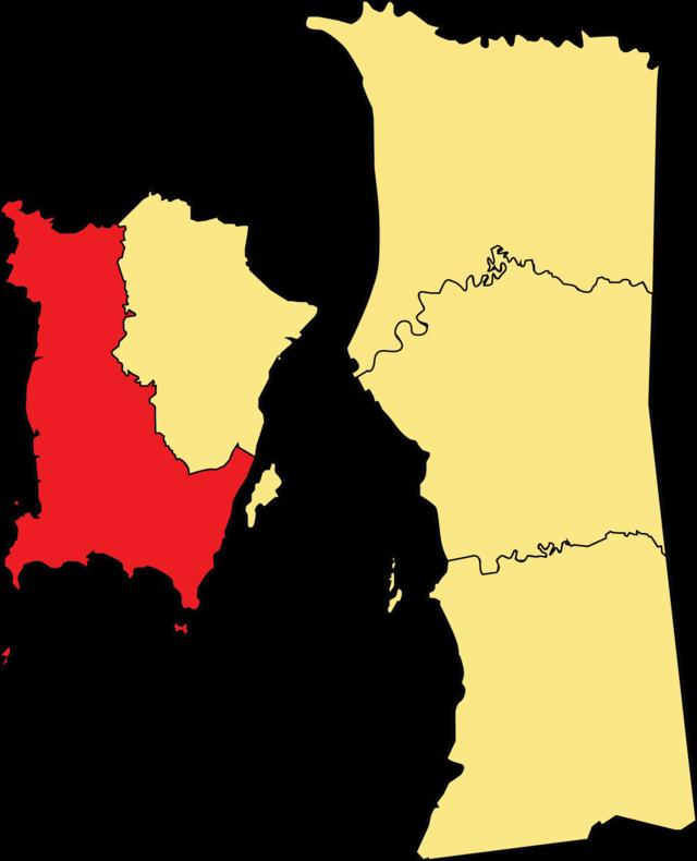Southwest penang island district. Maps clipart neighbourhood map