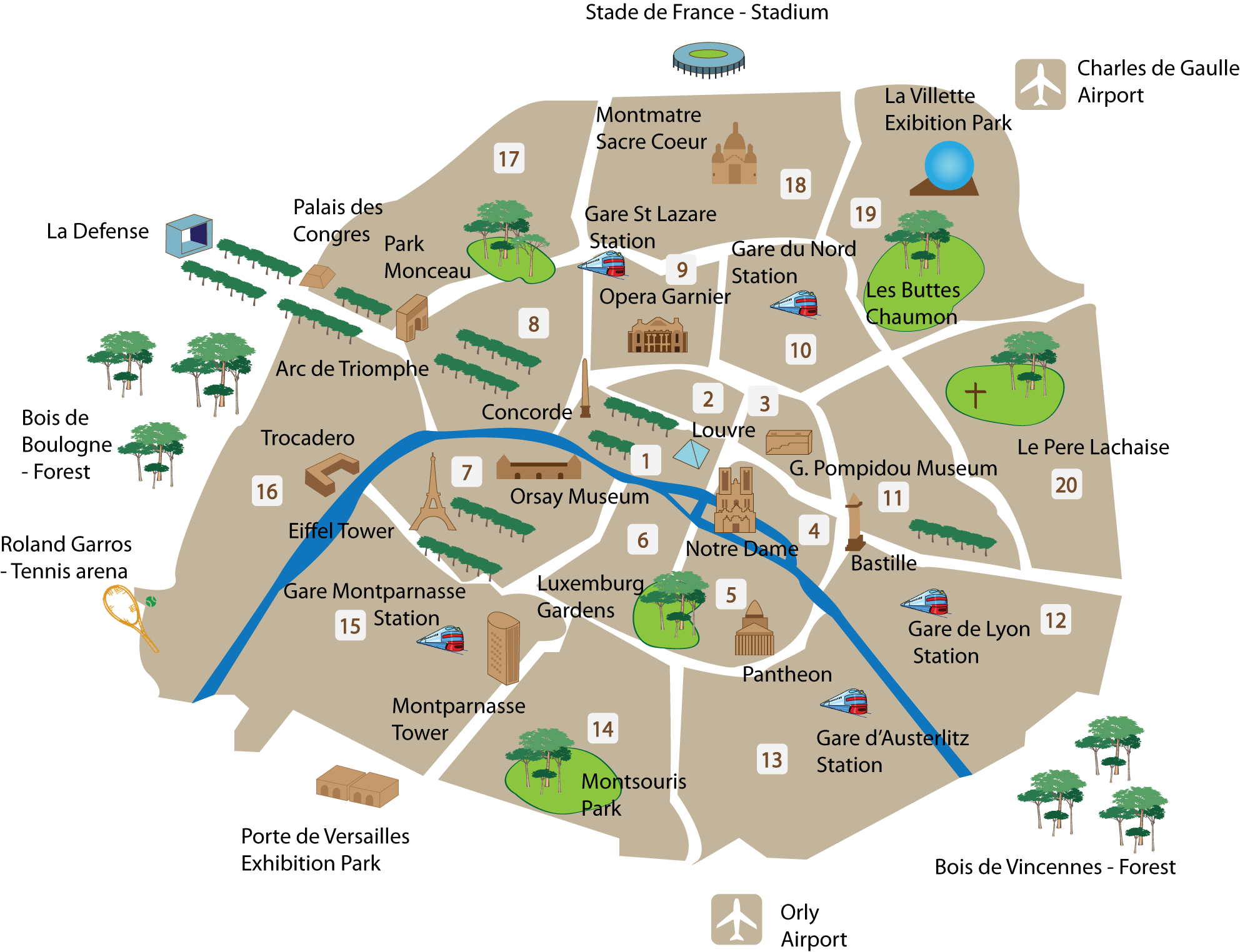 Paris clipart map. A of the top