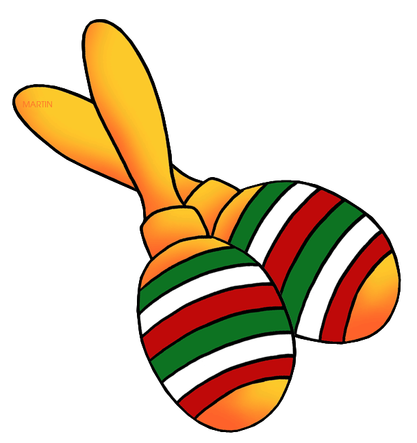Toys and games clip. One clipart maraca
