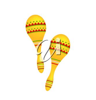 Maracas clipart cuban. Illustration pair colorful isolated