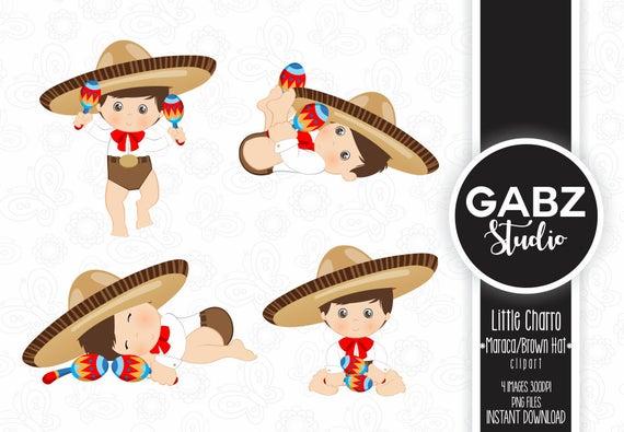 Maracas clipart fiesta hat. Little charro maraca mexican