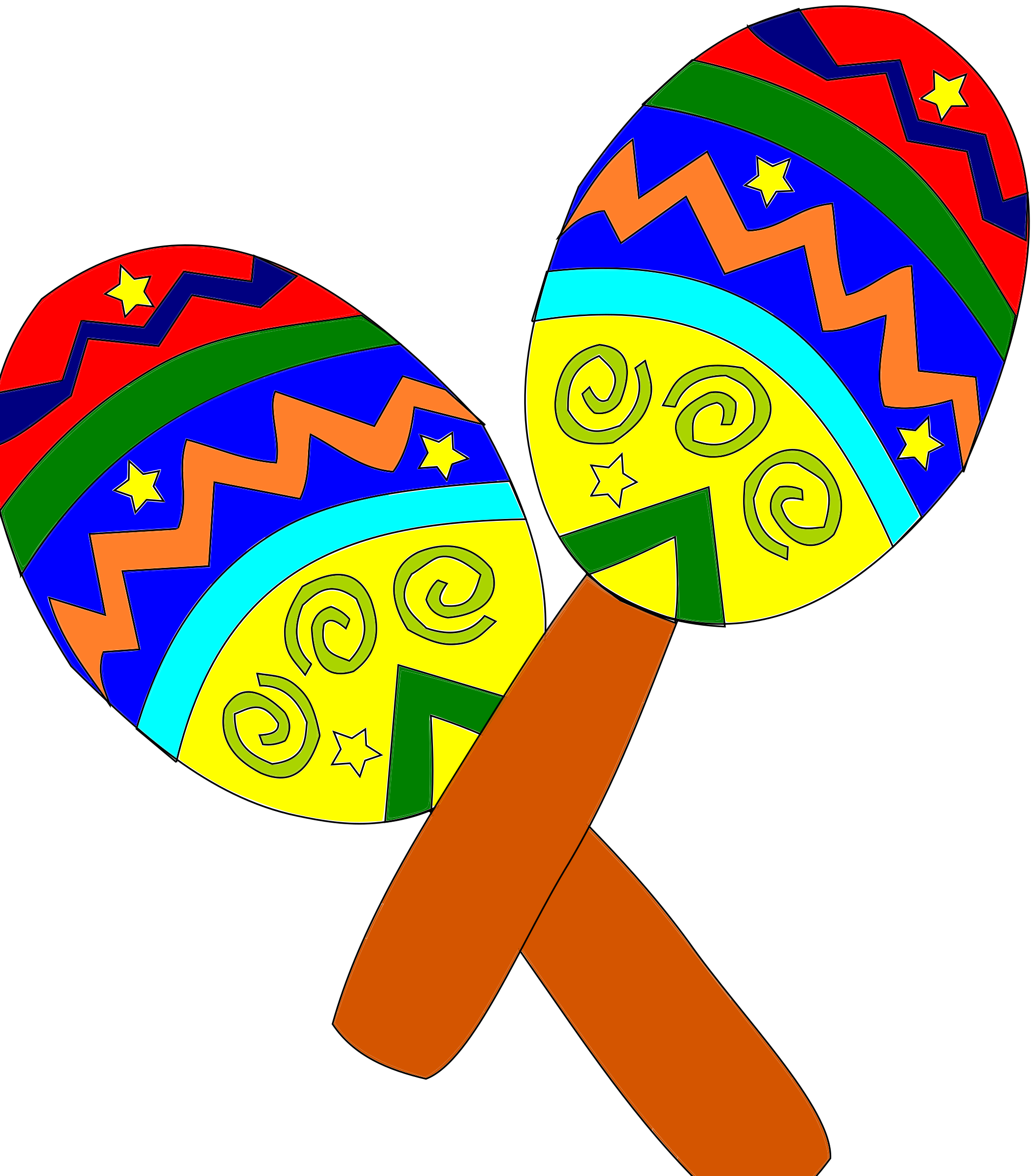 maracas clipart independence mexican