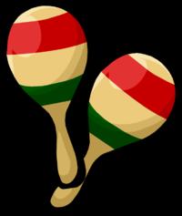 maracas clipart latin america