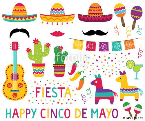 Pinata clipart decor mexican. Cinco de mayo set