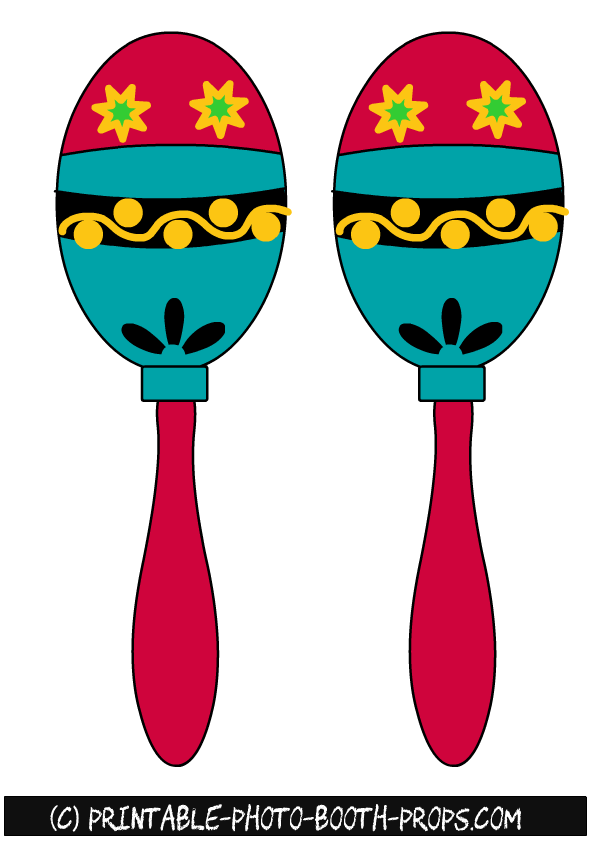 Maracas clipart printable. Free colorful photo booth