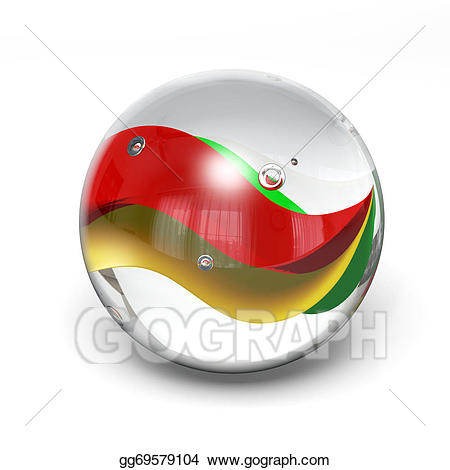 Stock illustration marble drawing. Marbles clipart