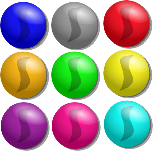 Game dots clip art. Marbles clipart