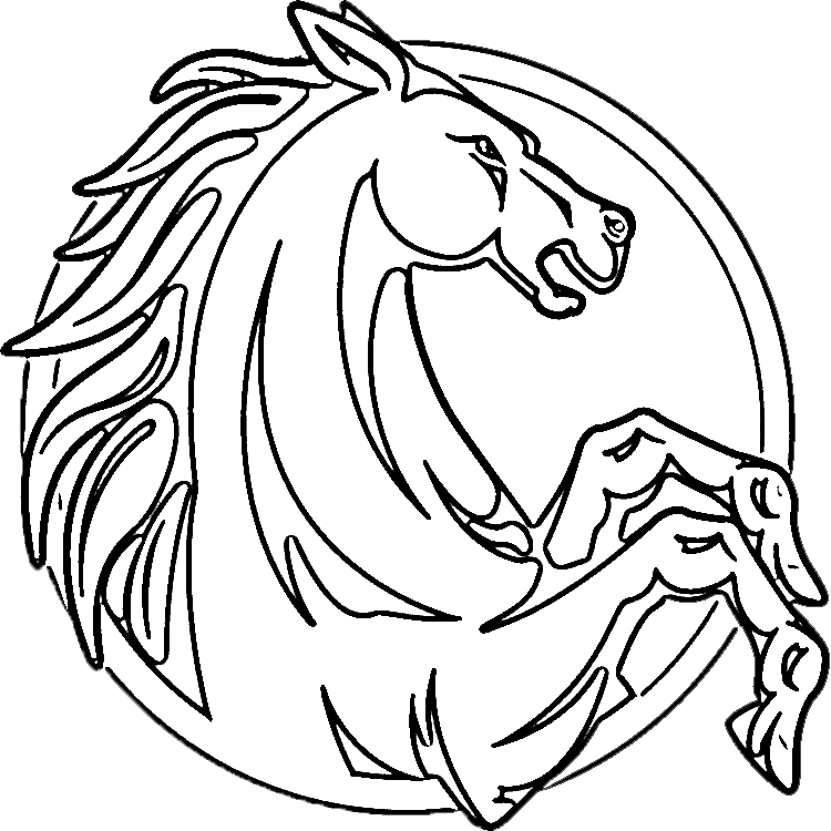 Rearing horse pages horses. Marbles clipart coloring