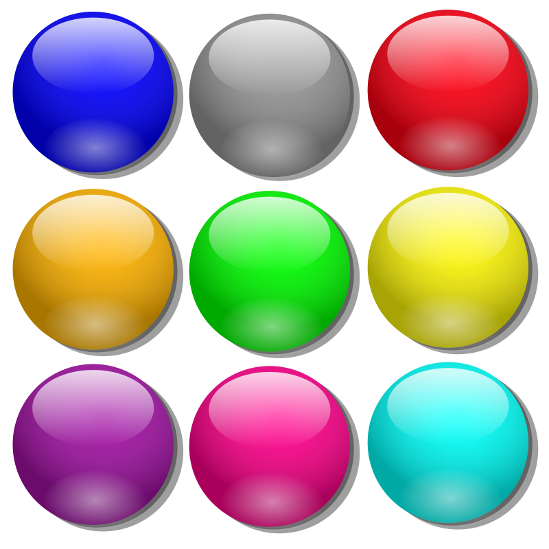 Game simple dots medium. Marbles clipart marbel