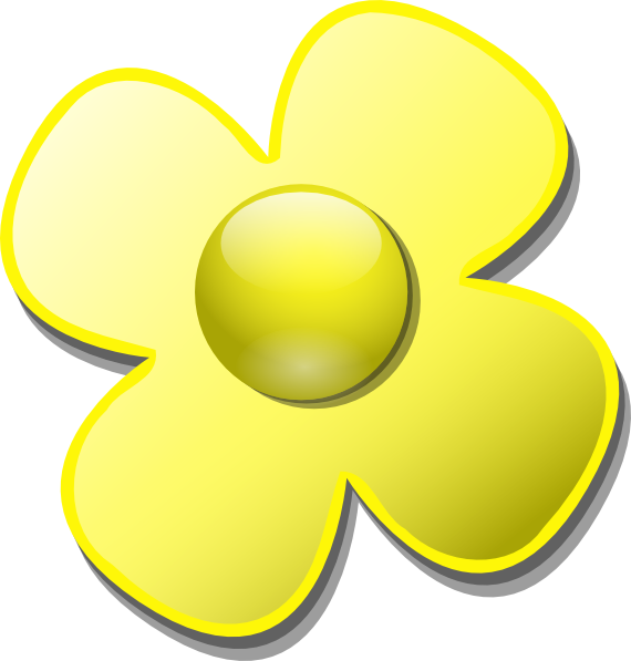 Yellow flower clip art. Marbles clipart marble game